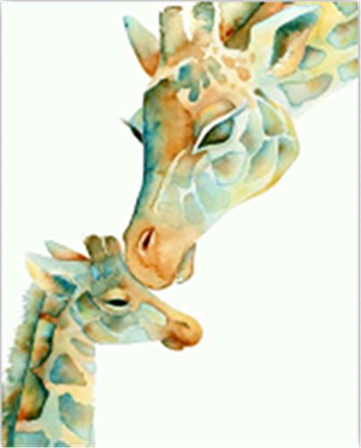 TianMai Hot New DIY 5D Diamond Painting Kit Crystals Diamond Embroidery Rhinestone Painting Pasted Paint By Number Kits Stitch Craft Kit Home Decor Wall Sticker - Giraffe, 25x30cm