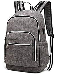 ZIXUAA Casual gran capacidad móvil momia bolsa Oxford paño multifunción bolsa madre y niño paquete viaje mochila USB…