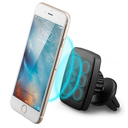Car Phone Holder, Spigen® [Premium Air Vent Magnetic] [Hexa Neodymium Core] Car Mount Holder / Mobile phone Holder for Large Phones-iPhone 7/7 Plus/6s/6s Plus,Galaxy S7/S7 Edge/S6,Galaxy Note 5/4, Nexus 5x/6P,LG G5 and More- A201 (000CD20115)
