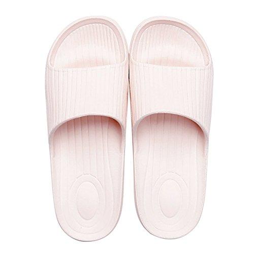 slip-on pantofole antiscivolo doccia sandali House Mule Pool suola morbida schiume bagno scorrevole per adulti Pink