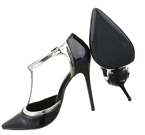 Damen Pumps Schuhe High Heels Stöckelschuhe Stiletto Pink Pink Beige Schwarz Rot 36 37 38 39 40 Schwarz