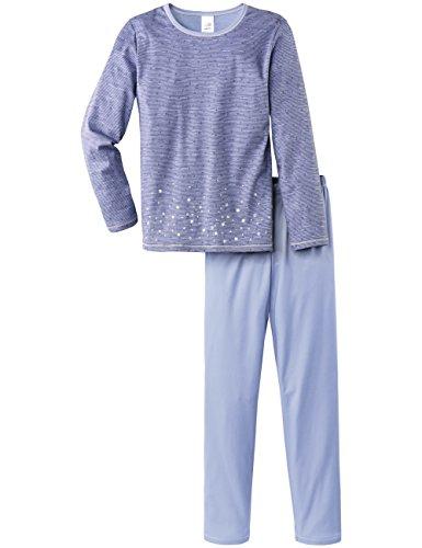 Calida Pyjama Wishing Star-Pigiama Bambina    Blau (purple impression blue 372) 10 anni
