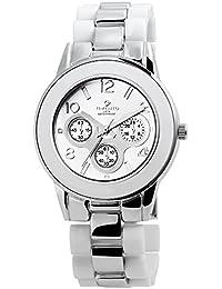 Reloj analógico Timento, de metal, diámetro de 39 mm, plata - 510022500006