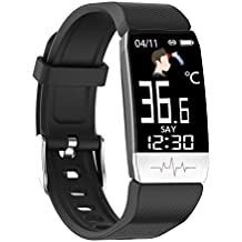 OPTA SB-212 Bluetooth ECG PPG Sensor, Body Temperature Monitoring & Heart Rate Sensor Fitness Band for All Android/iOS Mobile for Unisex (Black)