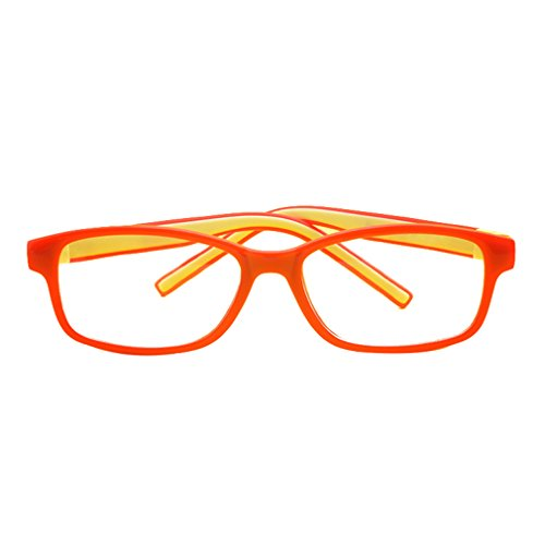 Hibote Mädchen Junge Brillen - Silikon - Professionel Clear Lens Glasses Frame Geek/Nerd Brillen mit Car Shape Gläser Fall