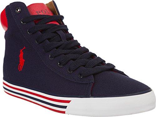 Scarpe Polo Ralph Lauren HARVEY MID Sneakers Alte - blu - Newport Navy 44