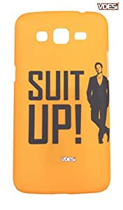 VDESI Back Cover For Samsung Galaxy Grand 2 Duos (G7106) -Suit Up (V11879)