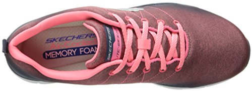 Skechers Damen Flex Appeal 2.0 High Energy Sneaker Charcoal/Coral