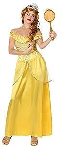 Atosa-28907 Disfraz Princesa de Cuento, color amarillo, XL (28907)
