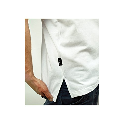 VIDA clothing Polo Shirt Poloshirt Herren Damen Rasta Reggae Kleidung Bekleidung Slim Fit Weiß White