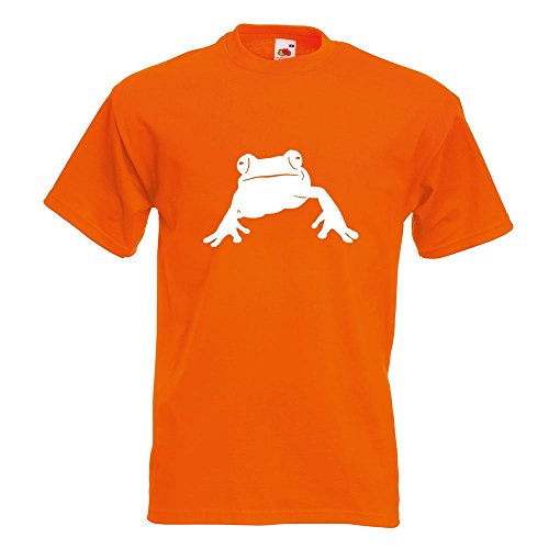 KIWISTAR - Frosch Frog Teich T-Shirt in 15 verschiedenen Farben - Herren Funshirt bedruckt Design Sprüche Spruch Motive Oberteil Baumwolle Print Größe S M L XL XXL Orange