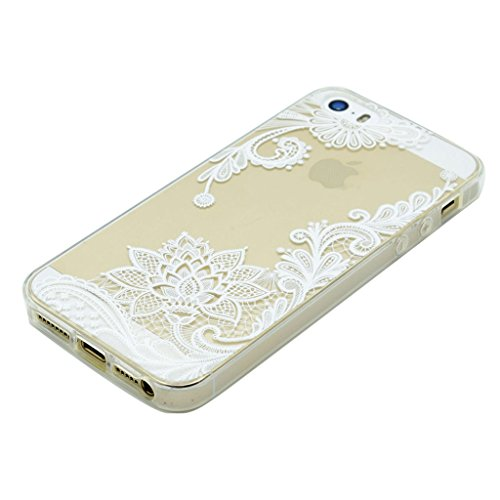 iPhone 5s Coque - MYTHOLLOGY Antichoc Housse Transparent Silicone Souple Slim Coque Pour iphone 5S / iphone SE /iphone 5 - YMXN DJBH