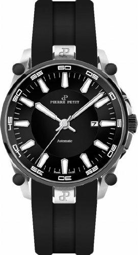 Pierre Petit - P-818A - Montre Homme - Automatique - Analogique - Bracelet Silicone Noir