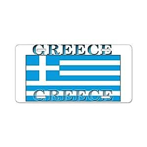 cafepress pride gr ce grec drapeau en aluminium plaque immatriculation standard. Black Bedroom Furniture Sets. Home Design Ideas