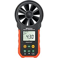 Proster Digitales Anemometer HYELEC MS6252A Multifunktionales Windmessgerät mit Batterie und Tasche für Windsurfen Drachenfliegen Surfing Segeln Angeln