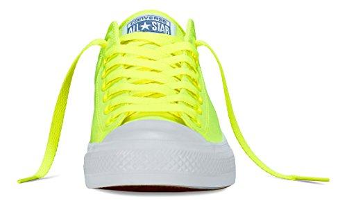 Converse Unisex-Erwachsene Chuck Taylor All Star II Neon Low-Top Gelb (Volt/Green/White)