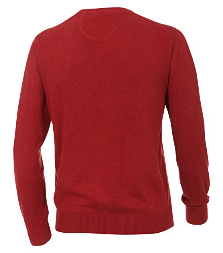 CASAMODA Herren Pullover Comfort Fit 004130/80 Dunkelrot