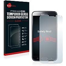 Savvies Protector Cristal Templado Samsung Galaxy S5 / S5 Neo Protector Pantalla Vidrio - Dureza 9H
