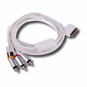 Câble multifonction AV Composite + USB pour Apple iPhone (3, 3Gs, 4) iPad (1, 2) et iPod Touch