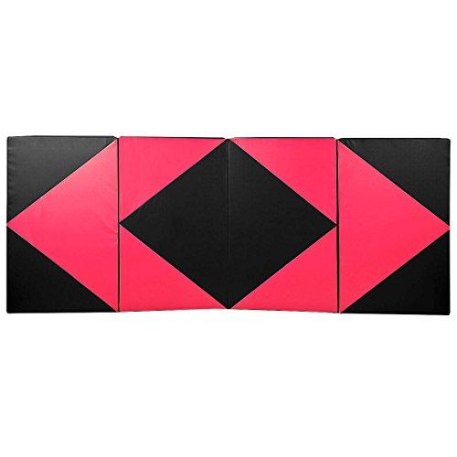 COSTWAY Weichbodenmatte Gymnastikmatte Yogamatte Turnmatte Klappmatte Fitnessmatte 300x120x5cm klappbar tragbar