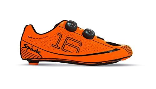 Spiuk 16 Road Carbono - Scarpe unisex, colore Arancione/Nero