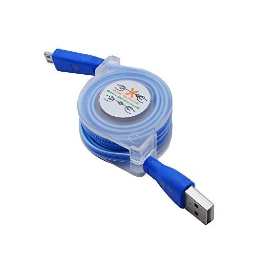 CICIYONER USB Ladegerät Datum Kabel Ladekabel Funktioniert mit jedem Telefon mit Micro-USB-Anschluss (v8) (Blau) V8-micro-usb