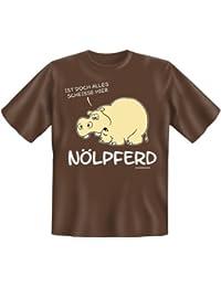 Rahmenlos Fun-T-Shirt: Nölpferd - Geschenkidee - 100% Baumwolle - Top Qualität