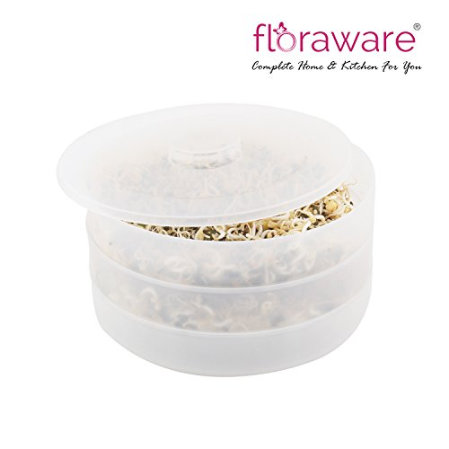 Floraware Sprout Maker, 3 Containers, White
