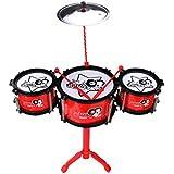 HXGL-Tambor Batería para niños Patrón de dibujos animados Regalo de instrumento de percusión (