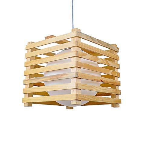 AmzGxp Moderne Eiche + Glas + Hardware Einfache Kreative LED Quadrat Schlafzimmer Wohnzimmer Esszimmer Arbeitszimmer Kronleuchter/Deckenleuchte/Lampe kreativ -