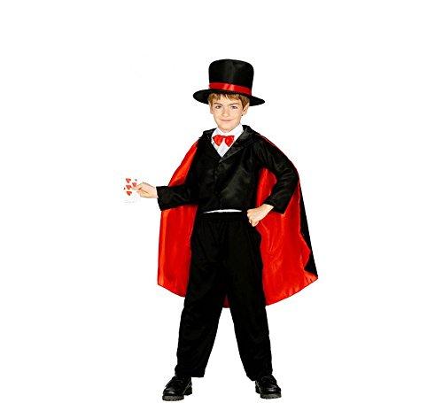 Generique - Zauberer-Kostüm für Kinder 122/134 (7-9 Jahre) (Kinder Zauberer Für Kostüme)