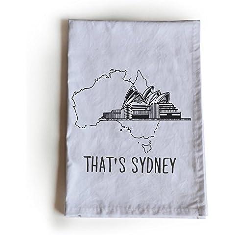 Amore Beaute Handcrafted personalizzato Strofinaccio in cotone, ecco Sydney 70x 70cm Handloom Cotone, Panno, anno nuovo, regalo di natale, regalo per lui