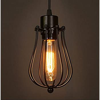 Modern vintage industrial metal cage loft pendant lamp ceiling light modern vintage industrial metal cage loft pendant lamp ceiling light shade retro pendant light e27 socket aloadofball Choice Image