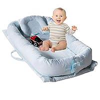 TEALP Baby Bassinet Baby Lounger, Infant Sleeping Nest Pods, Stripe(0-24 Months)
