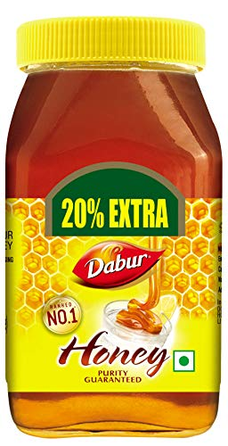 Dabur 100% Pure Honey, 500g (Get 20% Extra)