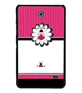 Pink Beetle Pattern 2D Hard Polycarbonate Designer Back Case Cover for Samsung Galaxy Tab 4 :: Samsung Galaxy Tab 4 T231