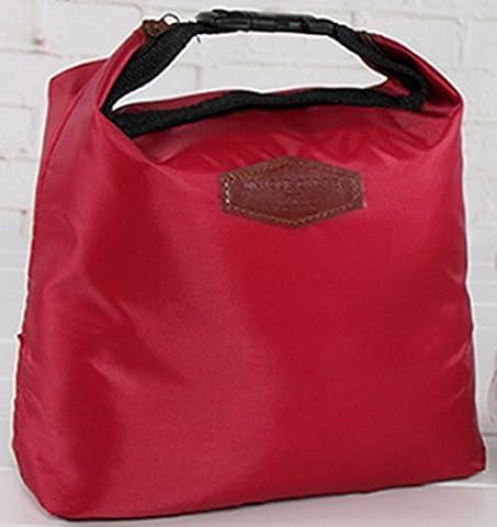 Sacs à lunch d'isolation, Chickwin feuille d'aluminium épaisse de sacs de glace en tissu Oxford, sac de glace fraîche, sac isotherme, sacs de pique-nique, des sacs de repas, sacs de stockage. (Vin Rouge)