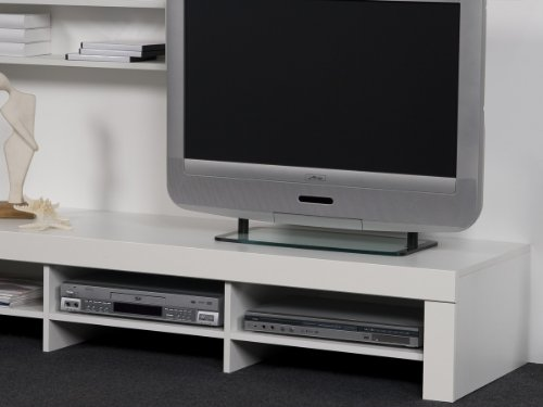 Lowboard / TV-Regal + Wandregal + Paneel, Fernsehschrank TV-HiFi Center – Weiß - 2