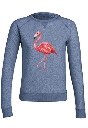 ul7 Sweat pour femmes Trips Pink Flamingo Mid Heather Blue