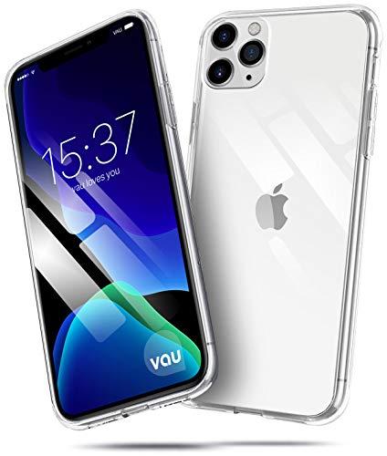 vau Hülle passend für Apple iPhone 11 Pro (5.8) - SoftGrip transparent weiches Silikon-Case Handyhülle dünn durchsichtig Clear (OLED 2019)