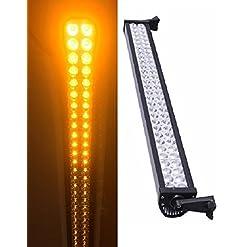 Giallo/ambra luce LED bar 240W 20000LM 112cm nebbia fuori strada lampada 4x 4camion Bus barca trattore