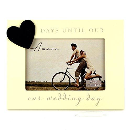 Hochzeit Countdown Foto Rahmen und Kreidetafel Geschenk, 15,2x 10,2cm und Geschenk Tüte
