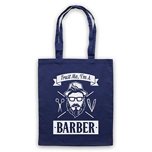 Trust Me I'm A Barber Funny Work Slogan Umhangetaschen Ultramarinblau
