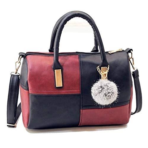 880c92cd1890d Amazon Black Sales Friday Cyber Sales Monday Sales   Deals Week 2018-Women  Patchwork Bag Soft PU Leather Handbags Shoulder Bags Ladies Purse Messenger  Bags ...