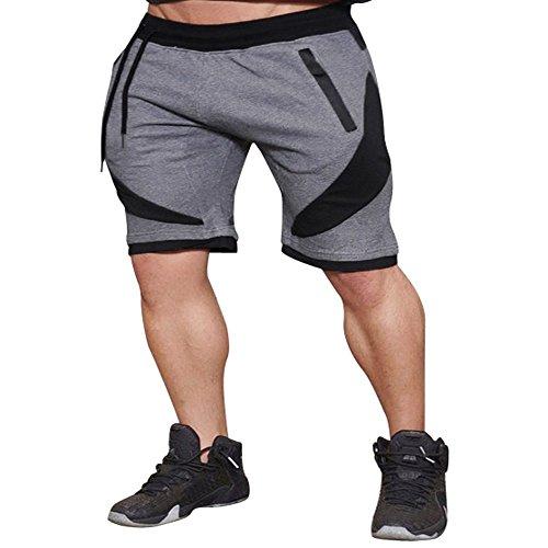 JYJM Männer Sport Fitness Jogging Elastische Stretchy Bodybuilding Muskel Bermuda Jogginghose Schlaf Shorts Strand Shorts