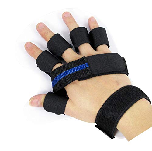ZZF Fingerschiene, Fingerseparator, Fingerkorrekturplatte, Handgelenkstraining, Hemiplegie-Rehabilitation,Right,L -