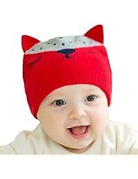 Bébé Tricot Beanie Hat - Toddler Infant Enfants Crochet Warm Caps Fox -  hibote c4f143049dd