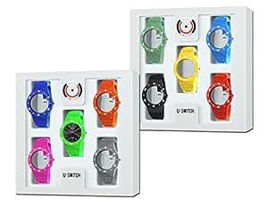 Coffret suprême de Montre Interchangeable U-Switch® 10 bracelets + 1 cadran noir