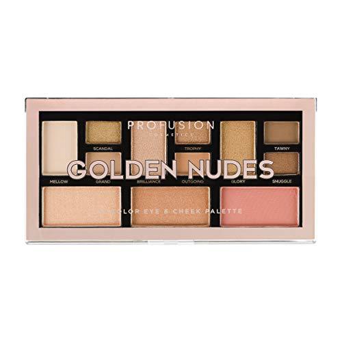 Profusion Cosmetics Mini Artistry 12 Shade Augen- & Wangen-Palette, Golden Nudes - Mini-make-up-palette