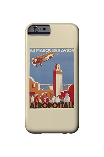Aeropostale - Au Maroc Par Avion Vintage Poster (artist: Jacquelin, Jean) France c. 1930 (iPhone 6 Cell Phone Case, Slim Barely There) (Aeropostale Jeans)